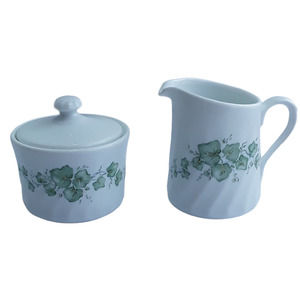 Corning Ware Callaway Ivy Sugar Bowl Lid Creamer